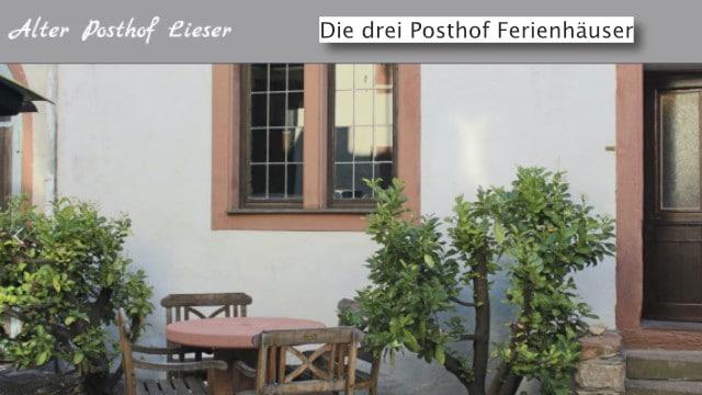 Alter Posthof Lieser, Ferienhaus Vermietung Mosel